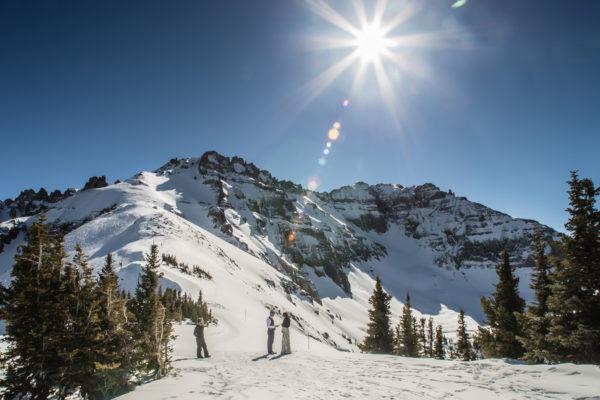 Telluride ski area elopement
