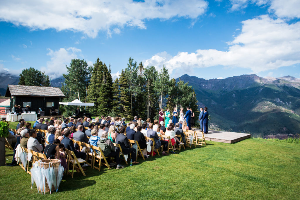 San Sophia Overlook Wedding in Telluride Colorado.  Photographed by Telluride wedding photographer Real Life Photographs