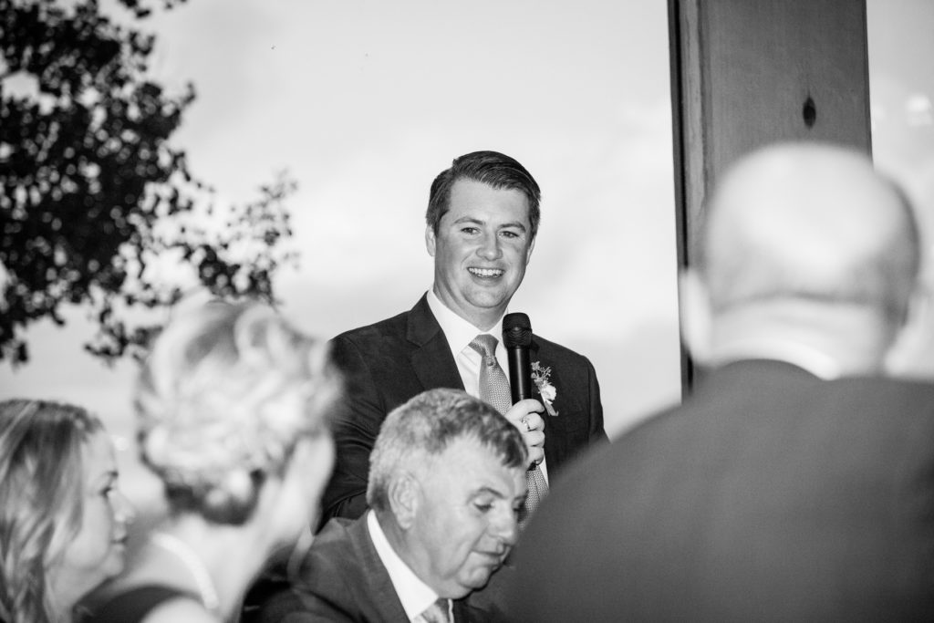 Allred's Wedding Reception toasts