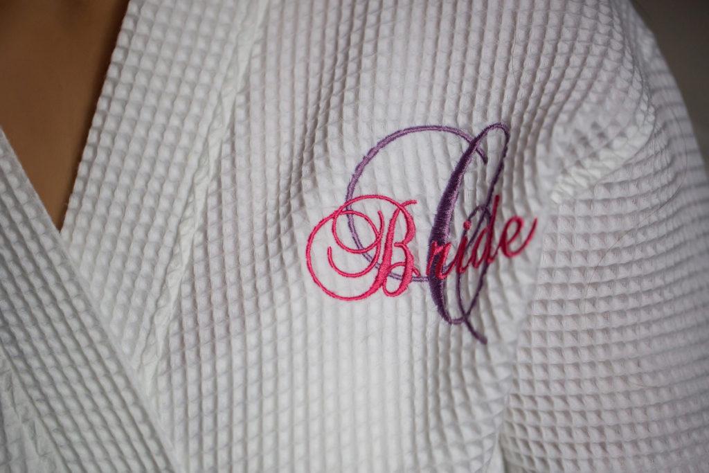 bride monogrammed bathrobe
