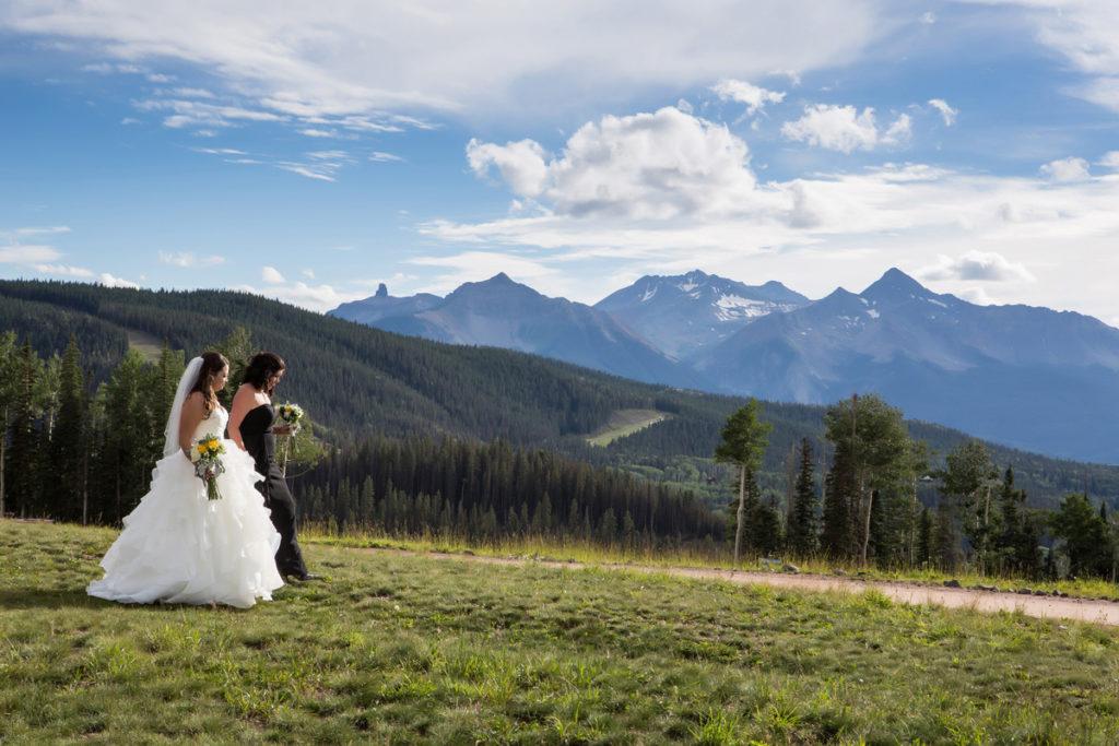 Lesbian wedding at San Sophia Overlook in Telluride, Colorado
