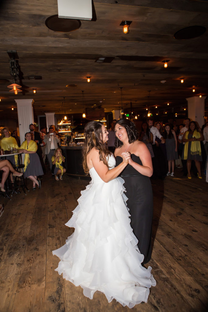 Lesbian wedding reception at Tomboy Tavern in Telluride, Colorado