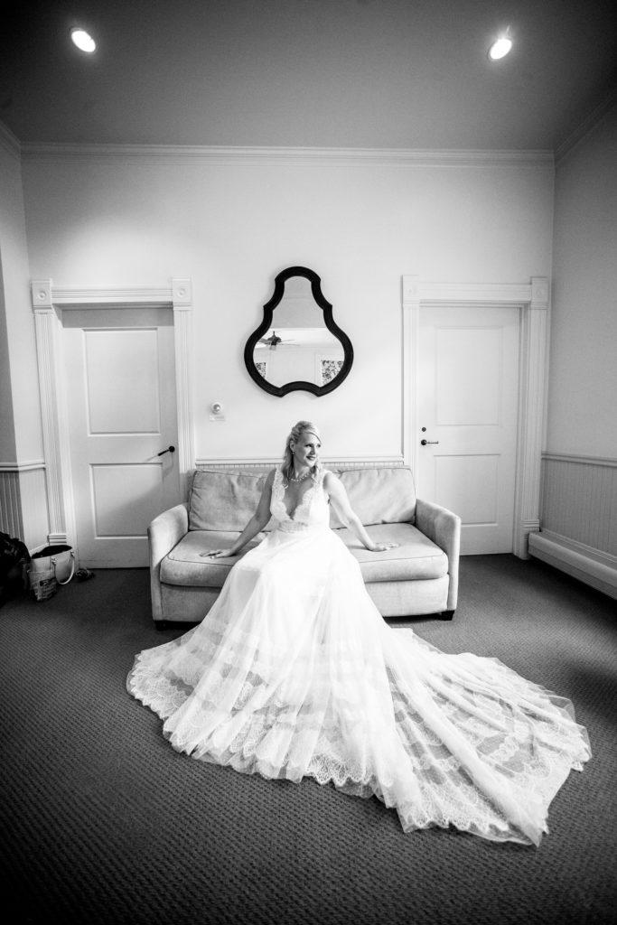 A bride getting ready at the hotel Sheridan in Telluride Colorado