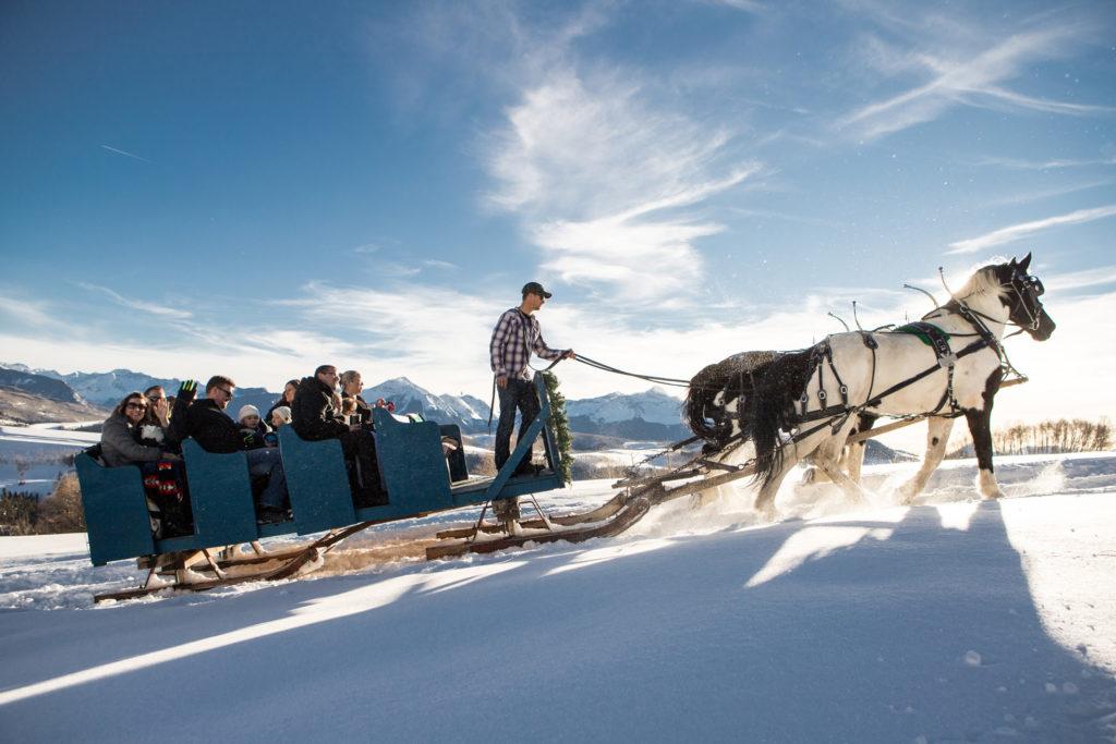 Telluride Wedding Venue Sleighs and Wagons