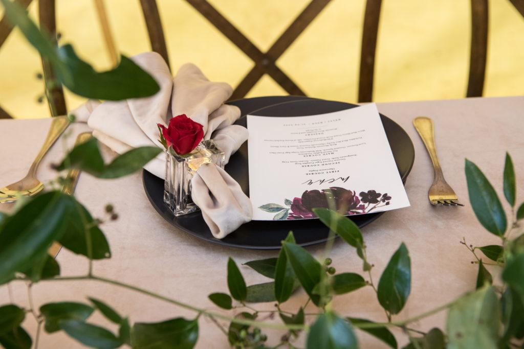 Telluride wedding reception in a tent