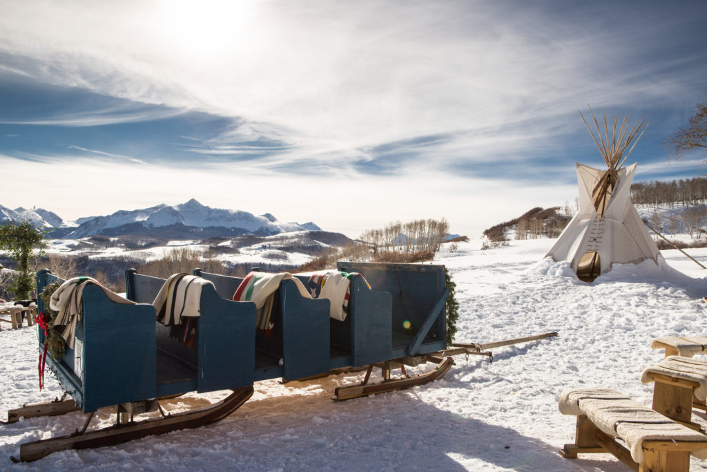 sleighs and wagons telluride wedding venue