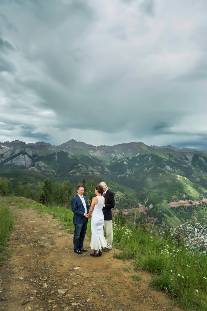 Telluride summer elopement at the top of Milk run