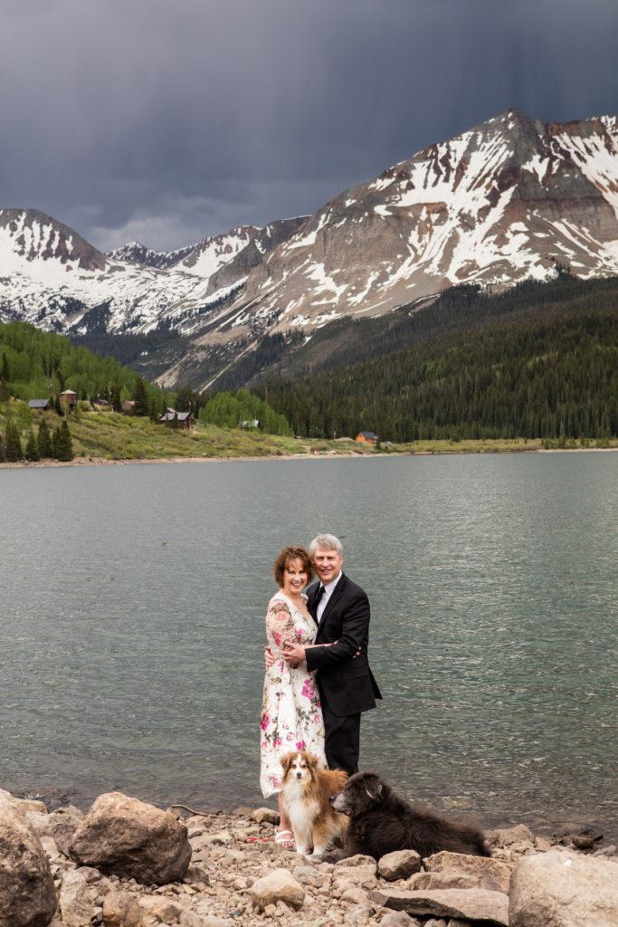 trout lake wedding in Telluride, Colorado