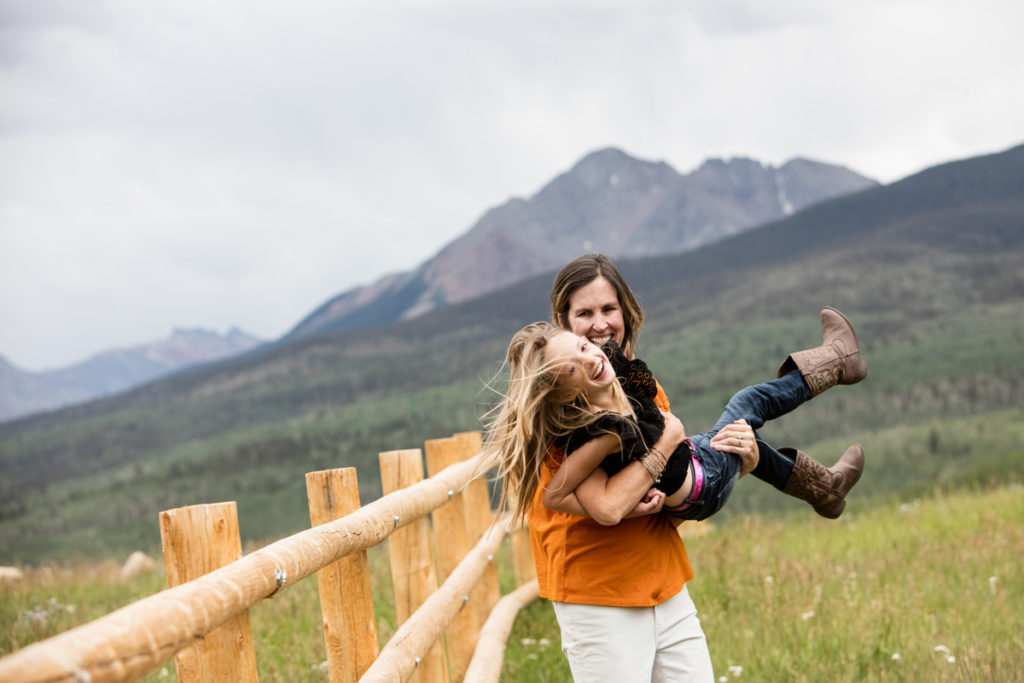 mother daughter gigglefest on wilson mesa in telluride, co