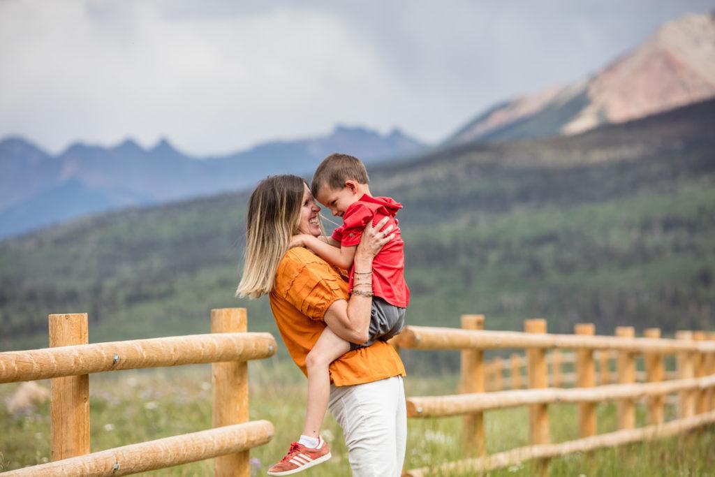mom and son telluride family portraits wilson mesa