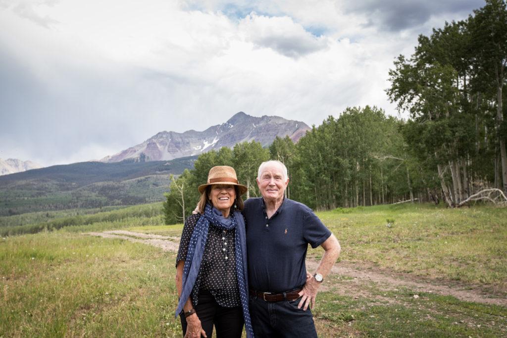 Grandma and grandpa on wilson mesa in Telluride, Co