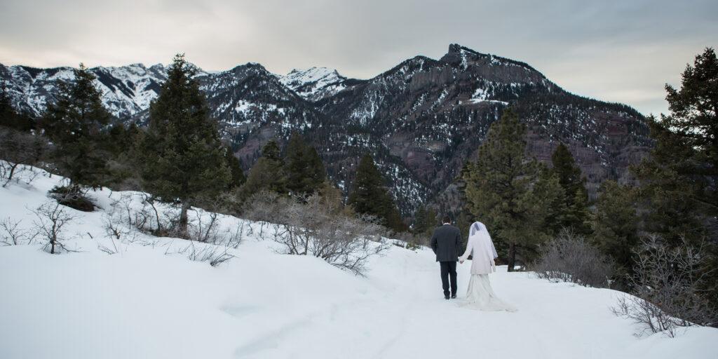 winter destination elopement
