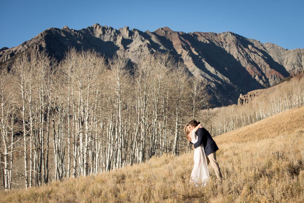 mountain elopement in Telluride, Colorado